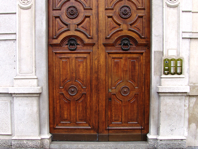 Many of the older palazzi have large double wooden doors big enough to let a horse-drawn carriage trundle through into the inner courtyard. & The door within the door | The Daily Cure